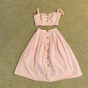 Two piece high waist skirt set